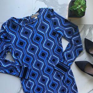 MICHAEL Michael Kors Blue Patterned Dress